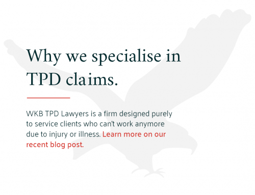 Why we specialise in TPD Claims